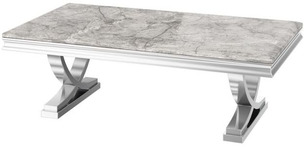 Maria Light Grey Marble Coffee Table