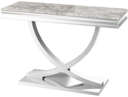 Maria Light Grey Marble Console Table