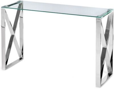Maxi Console Table - Glass and Chrome