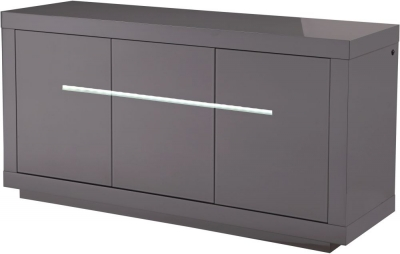 Monte Carlo Grey High Gloss Sideboard with LED