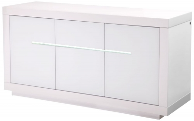 Monte Carlo White High Gloss Sideboard with LED