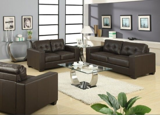 Naples Brown Leather 3 Seater Sofa