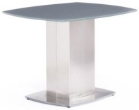 Olivia Grey Glass Side Table