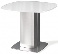 Olivia White Glass Side Table