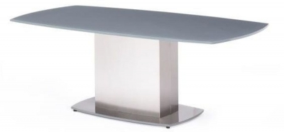 Olivia Grey Glass Coffee Table