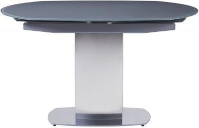 Olivia Grey Glass Rectangular Extending Dining Table