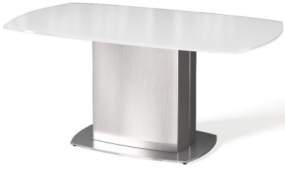 Olivia White Glass Coffee Table