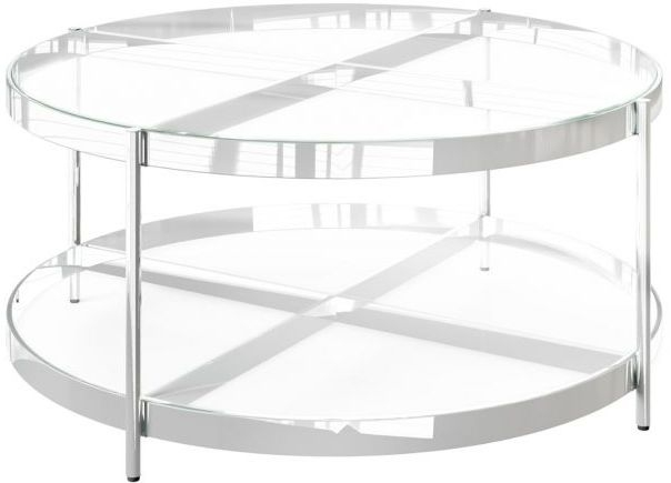 Omari Glass and Chrome Coffee Table