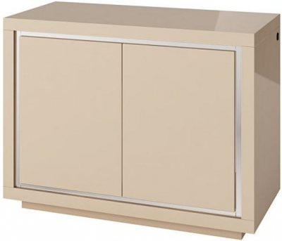 Sardinia Cream High Gloss 2 Door Sideboard with LED Light