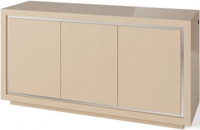 Sardinia Cream High Gloss 3 Sideboard with LED Light