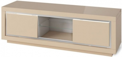 Sardinia Cream High Gloss Entertainment Unit with LED Light