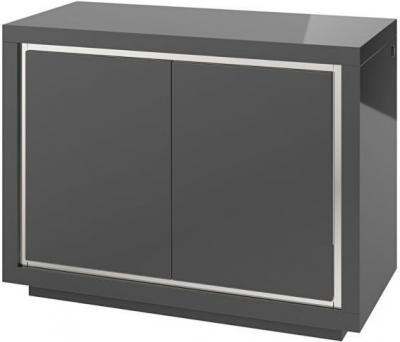 Sardinia Grey High Gloss 2 Door Sideboard with LED Light