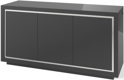 Sardinia Grey High Gloss 3 Sideboard with LED Light