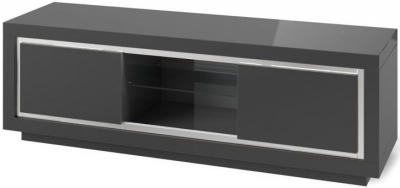 Sardinia Grey High Gloss Entertainment Unit with LED Light