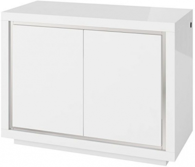 Sardinia White High Gloss 2 Door Sideboard with LED Light
