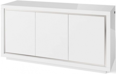 Sardinia White High Gloss 3 Sideboard with LED Light