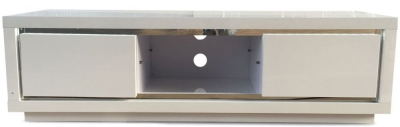 Sardinia White High Gloss TV Unit with LED