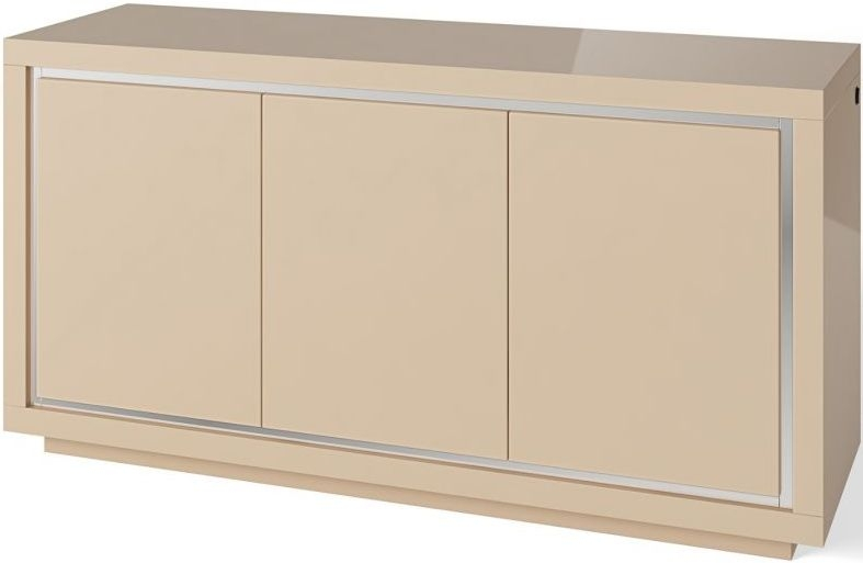 Sardinia Cream High Gloss 3 Sideboard with LED Light