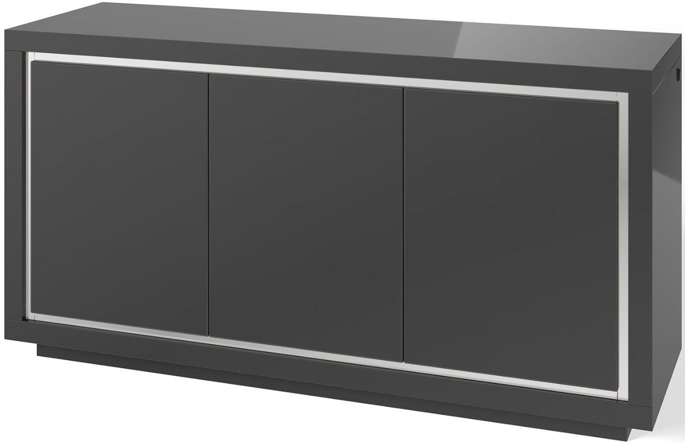 Sardinia Grey High Gloss 3 Sideboard with LED Light