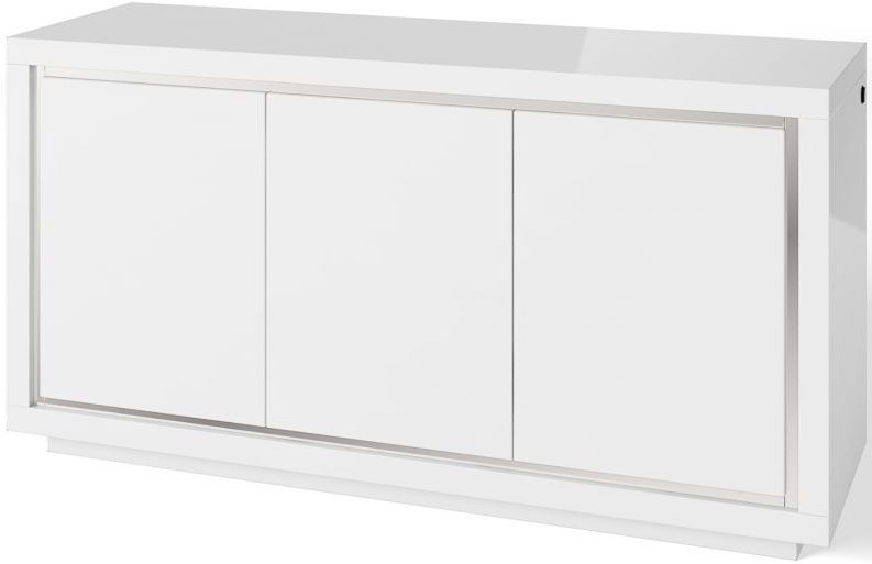 Sardinia White High Gloss 3 Sideboard with LED Light