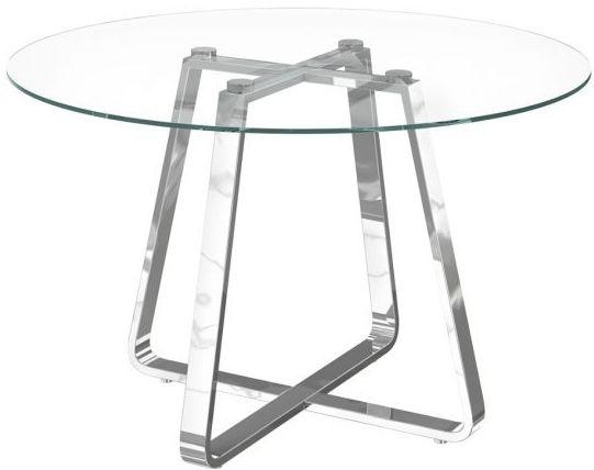 Nova Glass and Chrome Round Dining Table