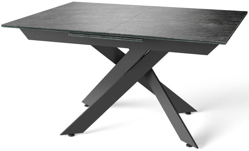 Mirage Grey Glazed Extending Dining Table