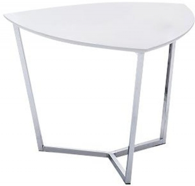 Tesla White High Gloss Side Table