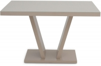 Valentino Cream High Gloss Dining Table