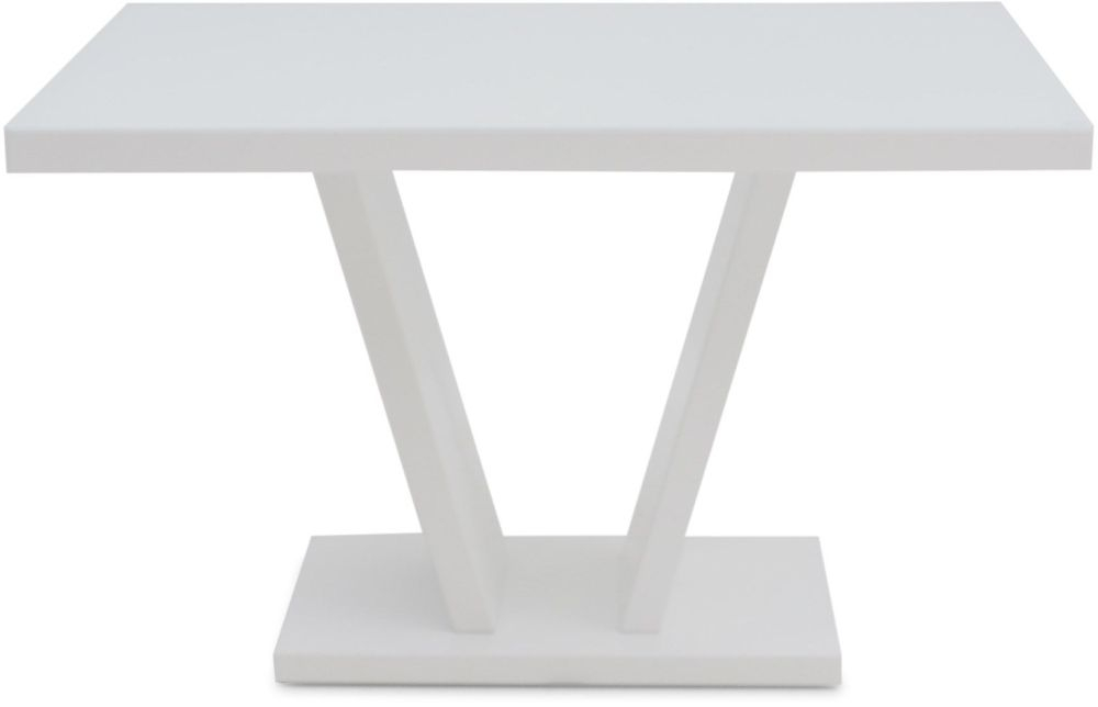 Valentino White High Gloss Dining Table
