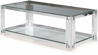 Vasari Coffee Table - Glass and Chrome