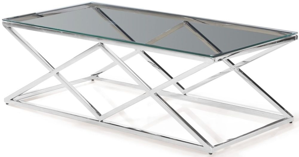 Victor Coffee Table - Glass and Chrome