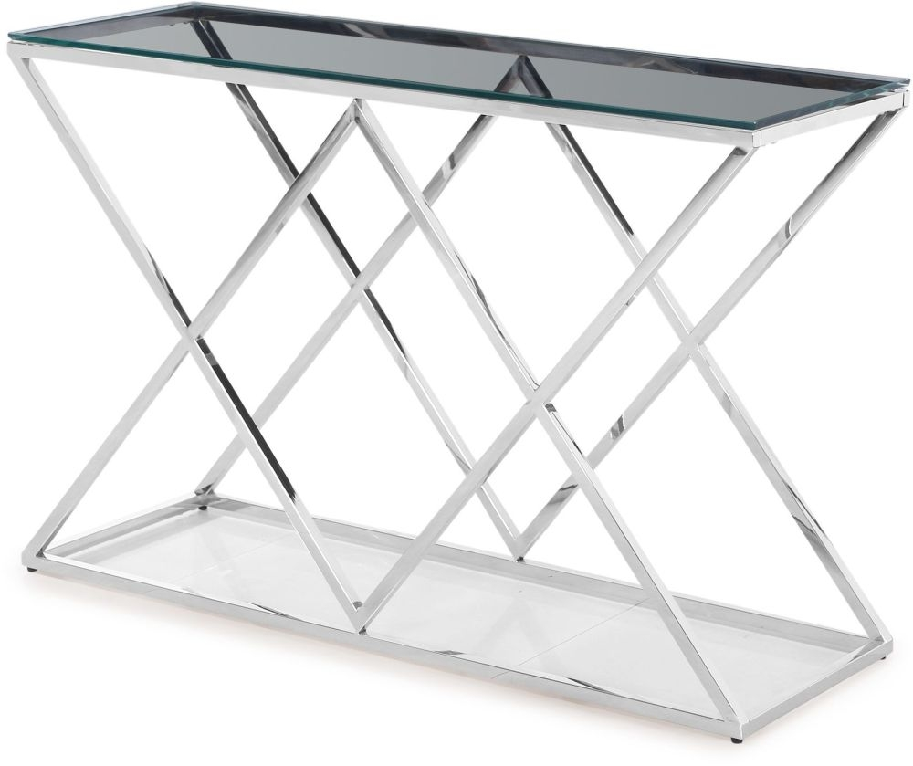 Victor Console Table - Glass and Chrome