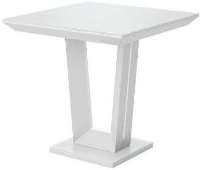 Vivaldi Matt White Side Table