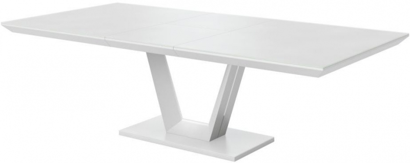 Vivaldi Matt White Extending Dining Table