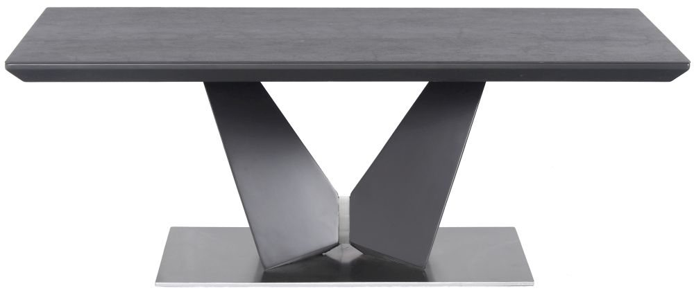 Westin Matt Gloss Coffee Table with Grey Ceramic Top