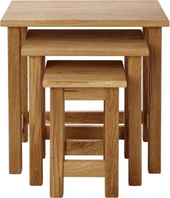 Aston Oak Nest Of Tables