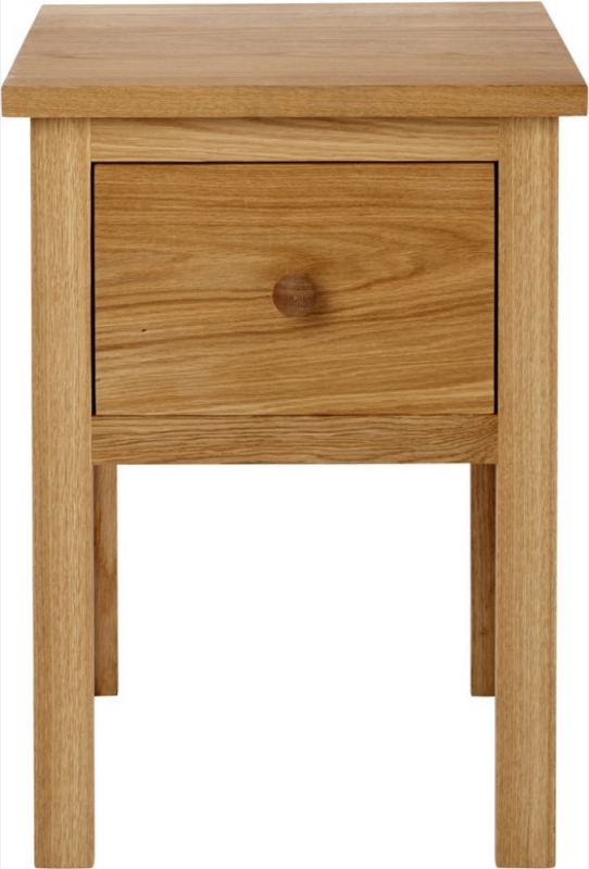 Aston Oak 1 Drawer Lamp Table