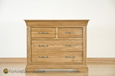 Bordeaux Oak 2+2 Drawer Chest