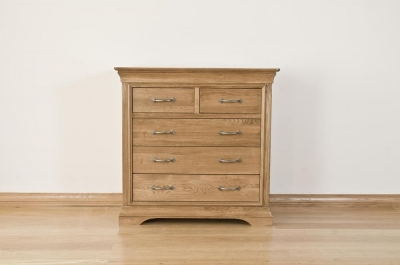 Bordeaux Oak 3+2 Drawer Chest