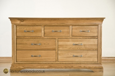 Bordeaux Oak Chest of Drawer - 3 Over 4 Drawer