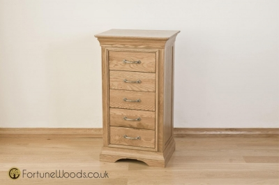 Bordeaux Oak Chest of Drawer - 5 Drawer Wellington