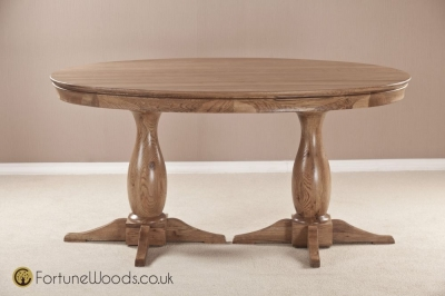 Bordeaux Oak Dining Table - Oval