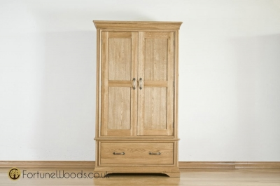 Bordeaux Oak Gents Wardrobe - 2 Door 1 Drawer