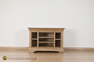 Bordeaux Solid Oak TV Unit - Corner