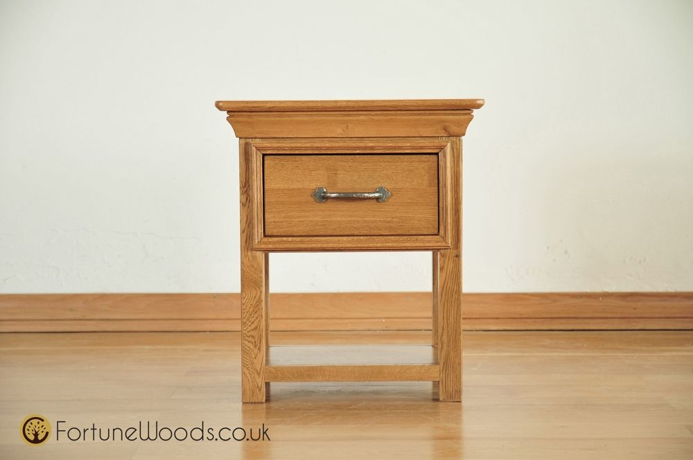 Bordeaux Solid Oak 1 Drawer Bedside Table