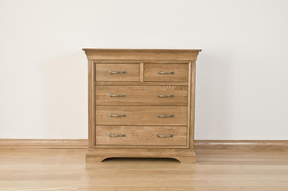 Bordeaux Solid Oak Chest of Drawer - 3+2 Drawer