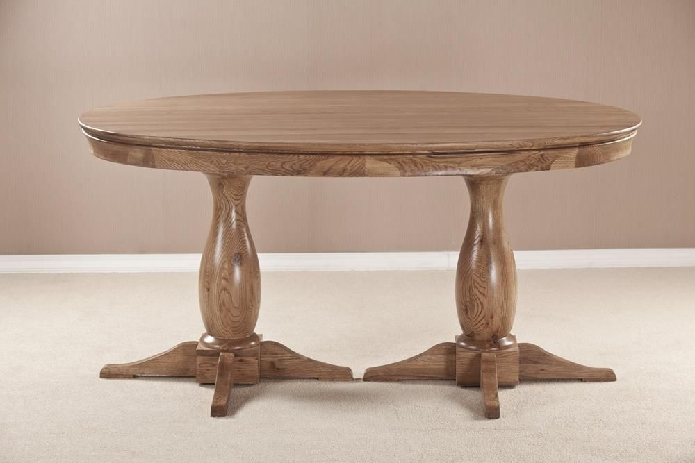 Bordeaux Solid Oak Oval Fixed Top Dining Table - 158cm