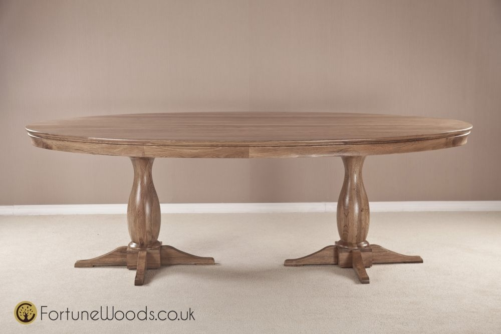 Bordeaux Oak Dining Table - Large Oval