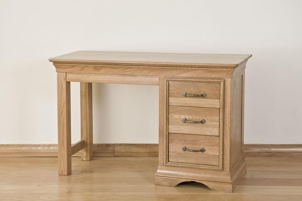 Bordeaux Oak Dressing Table - Single Pedestal