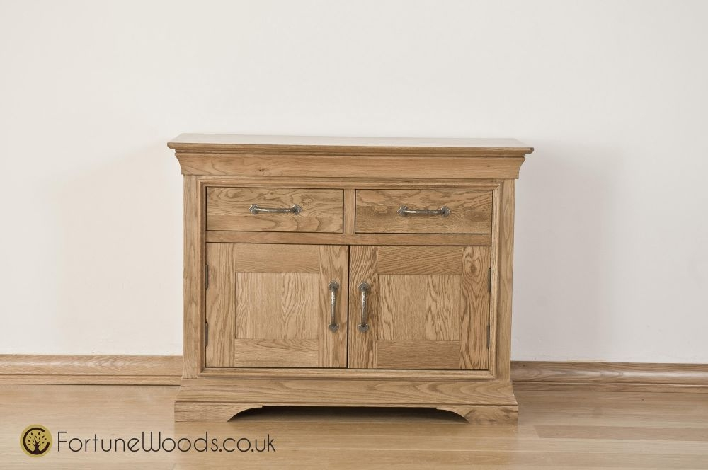 Bordeaux Oak Sideboard - 3ft